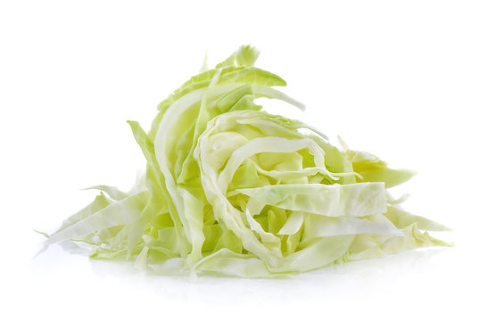 slice Cabbage on whie background