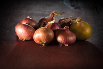 onions on the table