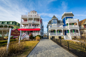 Wall Mural - Houses along Beach Avenue, in Cape May, New Jersey.