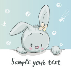 cute little cartoon hare