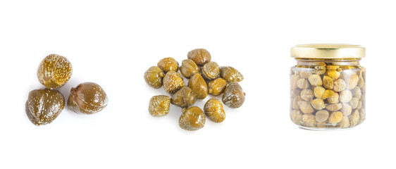 Collections of capers  isolated