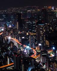 Illuminated cityscape, Tokyo, Japan, East Asia