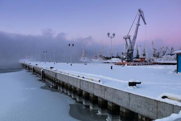 Trade port in Murmansk, Kola Peninsula, Russia