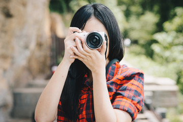 Camera Photographer Women Inspiration Journey Style Concept