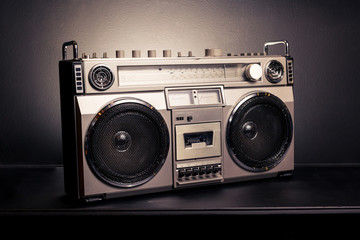 Vintage radio boombox