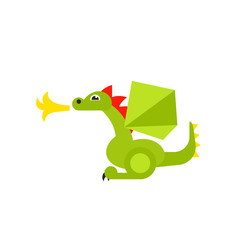 Fire-breathing dragon icon