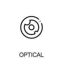 Optical flat icon