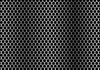 Abstract metal circle mesh pattern background texture vector illustration.