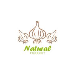 Natural product logo design vector template. Garlic icon