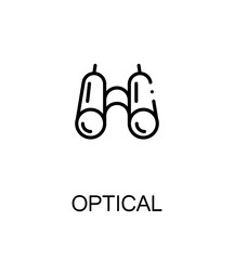 Optical flat icon