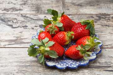fresh strawberries on a plate