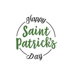 Happy Saint Patrick Day Lettering, Circle