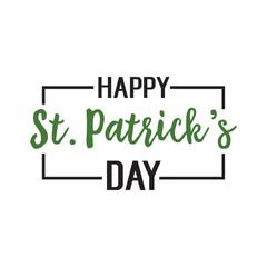 Happy St. Patricks Day Lettering in Frame