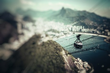 The cable car to Sugar Loaf in Rio de Janeiro
