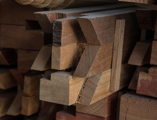 end of wood with  cut woodworking tenon