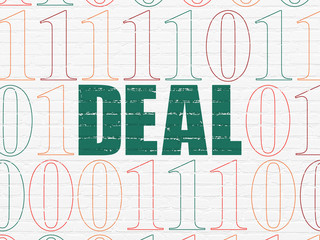 Business concept: Deal on wall background