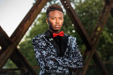 African American Teenage Male Model Formal Fashion