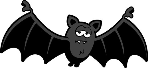 Cartoon Sad Bat