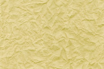 Yellow retro wrinkled kraft paper background