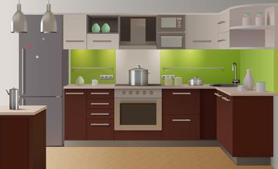 Colored Kitchen Interior