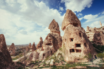 Review unique geological formations in Cappadocia, Turkey. Kappa Wall mural
