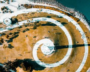 Lighthouse spiral walkway