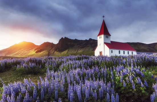 Lutheran church in Vik. Iceland.