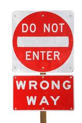 do not enter wrong way