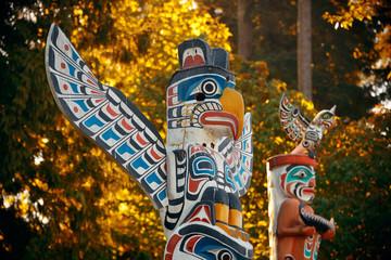 Indian totem poles Wall mural
