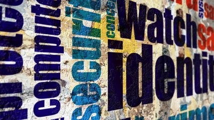 Wall Mural - Identity grunge concept