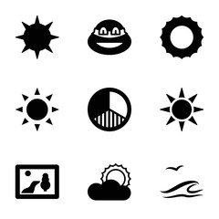 Set of 9 sunset filled icons
