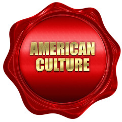 american culture, 3D rendering, red wax stamp with text