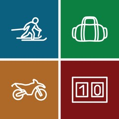 Set of 4 Sport outline icons