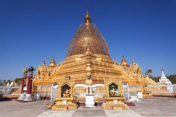 Golden temple in Mandalay Burma