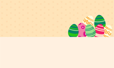 Background easter egg greeting card