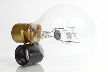 big light bulb on white background