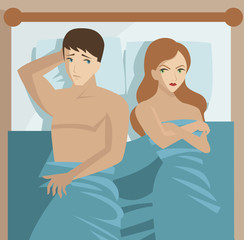 couple in bed problems sexual disfunction