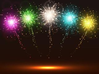 Multicolor firework background