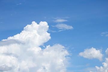 Blue sky white cloud landscape beautiful in nature