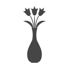 Flower in vase icon - vector Illustration