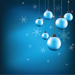 snowflake on background and in vector