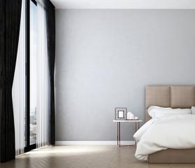 the interior of minimal bedroom design