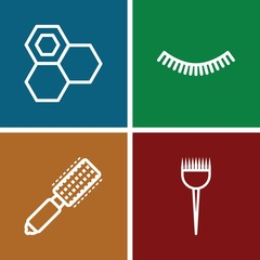 Set of 4 Barbershop outline icons