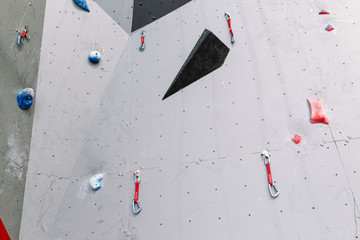 Artificial climbing bouldering wall indoors