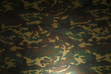 Green Camouflage pattern background for hunting or fishing and Military clothes