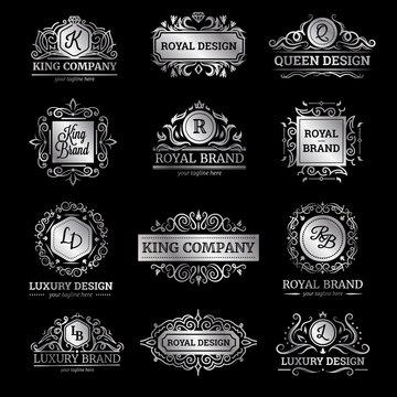 Silver Luxury Labels Set