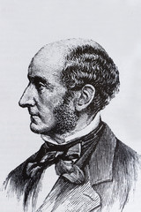 Portrait of the philosopher John Stuart Mill
