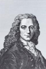 Portrait of the philosopher Francois Marie Arouet, Voltaire