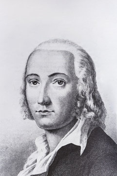 Portrait of the philosopher Friedrich Holderlin
