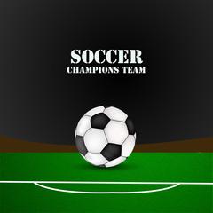 Illustration of soccer sport background